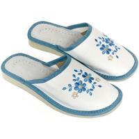 Boty Ženy Papuče John-C Dámske bielo-modré papuče MALVINA biela