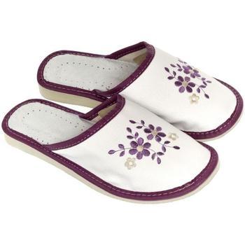 Boty Ženy Papuče John-C Dámske bielo-fialové papuče MALVINA biela