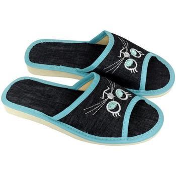 Boty Ženy Papuče John-C Dámske tmavo-modré papuče CATTY tmavomodrá