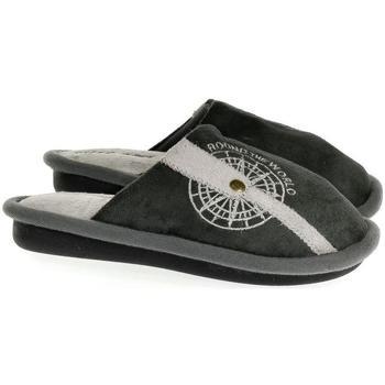 Boty Děti Papuče John-C Detské sivé papuče S.GEAR ROUND THE WORLD sivá