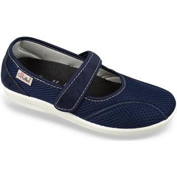 Boty Ženy Papuče Mjartan Dámske modré papuče  NELLY tmavomodrá