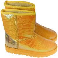 Boty Ženy Zimní boty Comer Dámske trblietavé žlté mamusky HALEY žltá