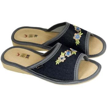 Boty Ženy Papuče John-C Dámske tmavo-modré papuče RITTA tmavomodrá
