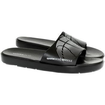 Boty Muži pantofle Wink Pánske čierne šľapky  SAMERS čierna