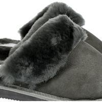 Boty Ženy Papuče Just Mazzoni Dánske luxusné kožené tmavo-sivé papuče MAVELLA tmavosivá