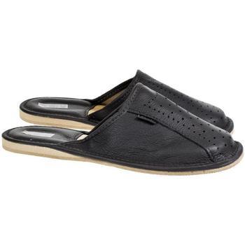 Boty Muži Papuče Just Mazzoni Pánske luxusné kožené tmavo-sivé papuče GIVELLI tmavosivá