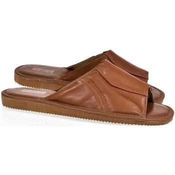 Boty Muži Dřeváky Just Mazzoni Luxusné pánske hnedé kožené papuče GERRY hnedá