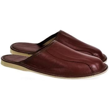 Boty Muži Pantofle Actonic Pánske luxusné kožené hnedé papuče OTO hnedá