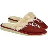 Boty Ženy Papuče John-C Dámske bordové papuče SOBIK bordová