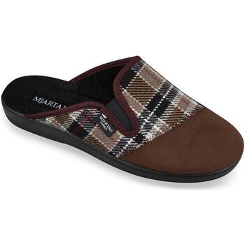 Boty Muži Papuče Mjartan Pánske hnedé papuče  PALO hnedá