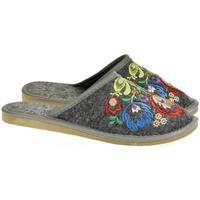 Boty Ženy Papuče Just Mazzoni Dámske luxusné sivé papuče LAJA tmavosivá
