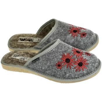Boty Ženy Papuče Just Mazzoni Dámske sivé papuče ROX tmavosivá