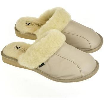 Boty Ženy Papuče Just Mazzoni Dámske luxusné kožené papuče GITA sivá