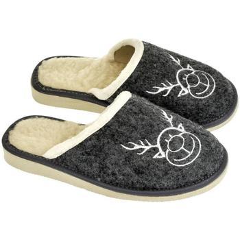 Boty Ženy Papuče John-C Dámske tmavo-sivé papuče JELENIK tmavosivá