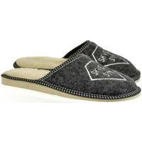 Boty Muži Papuče Bins Pánske sivé papuče SKVELÝ SYN tmavosivá