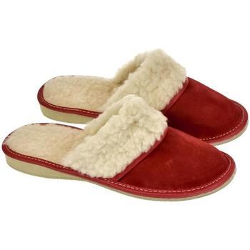 Boty Ženy Papuče John-C Dámske luxusné kožené papuče MIŠA červená