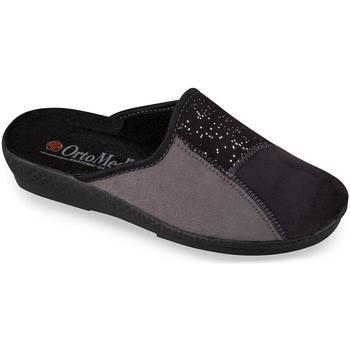 Boty Ženy Papuče Mjartan Dámske sivé papuče  BLACKIE tmavosivá