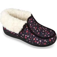 Boty Ženy Papuče Mjartan Dámske kvietkované papuče  LENKA čierna