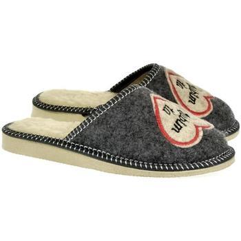 Boty Ženy Papuče Bins Dámske sivé papuče ĽÚBIMŤA tmavosivá