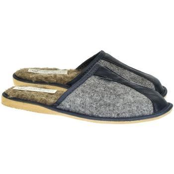 Boty Muži Papuče Just Mazzoni Pánske sivo-modré papuče SIMON sivá