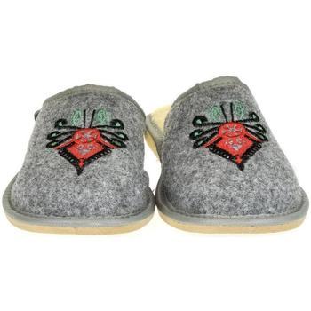 Boty Ženy Papuče Just Mazzoni Dámske sivé papuče ROMANA sivá