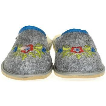 Boty Ženy Papuče Just Mazzoni Dámske sivé papuče LAURA sivá