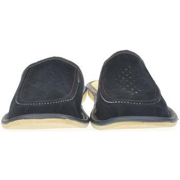 Boty Muži Papuče Just Mazzoni Pánske modré kožené papuče LACO granátová