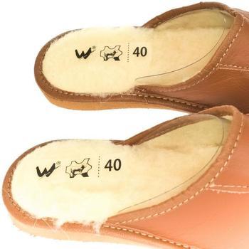 Boty Muži Papuče Just Mazzoni Pánske luxusné hnedé kožené papuče MIŠO ťavia