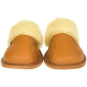 Boty Ženy Papuče John-C Dámske luxusné kožené papuče GITA ťavia