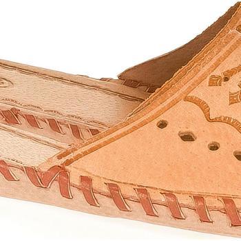 Boty Ženy Papuče Just Mazzoni Dámske béžové kožené papuče HANDMADE GORAL béžová