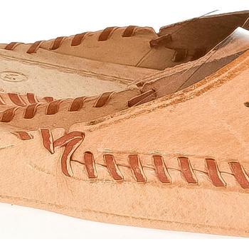 Boty Muži Papuče Just Mazzoni Pánske béžové kožené papuče HANDMADE GORAL béžová