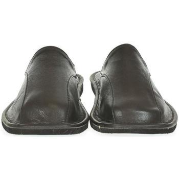 Boty Muži Papuče Just Mazzoni Luxusné pánske čierne kožené papuče ALBERT čierna