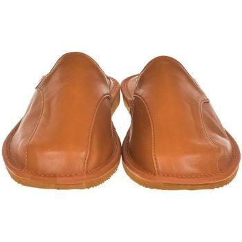 Boty Muži Papuče Just Mazzoni Luxusné pánske hnedé kožené papuče ALBERT ťavia