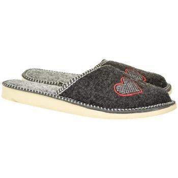 Boty Ženy Papuče John-C Dámske sivé papuče SUPER MAMA tmavosivá