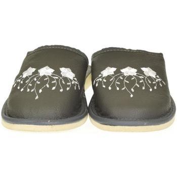 Boty Ženy Papuče John-C Dámske sivé kožené papuče LIASA tmavosivá