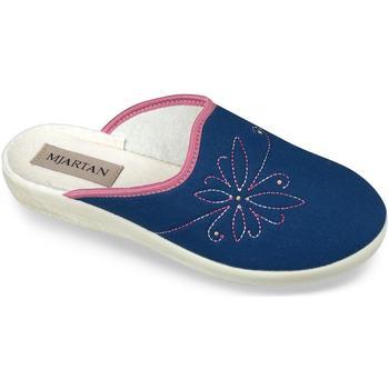 Boty Ženy Papuče Mjartan Dámske modré papuče  DANKA tmavomodrá