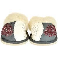 Boty Ženy Papuče John-C Dámske sivé kožené papuče TAMARA tmavosivá