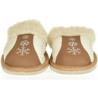 Boty Ženy Papuče John-C Dámske béžové kožené papuče NADĚŽDA ťavia