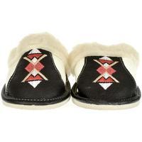 Boty Ženy Papuče John-C Dámske čierne kožené papuče NADYA čierna
