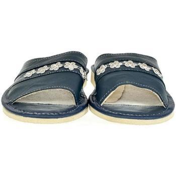 Boty Ženy Papuče John-C Dámske modré kožené papuče MASHA tmavomodrá