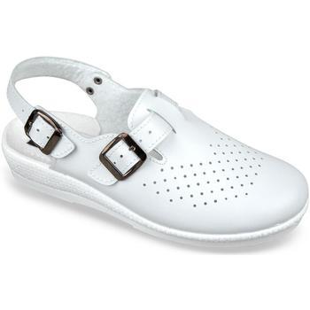 Boty Ženy Pantofle Mjartan Dámske biele šľapky  LILIANA biela