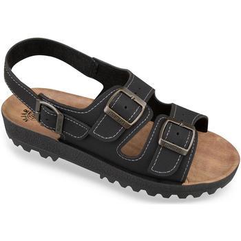 Boty Ženy Sandály Mjartan Pánske čierne sandále  MALVIN čierna