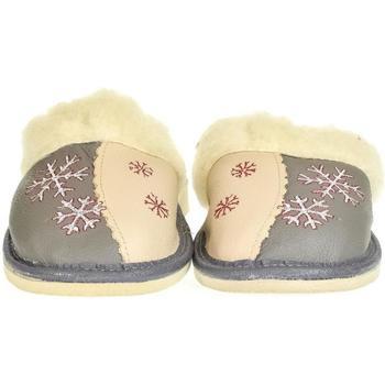 Boty Ženy Papuče John-C Dámske sivé kožené papuče ZORA béžová