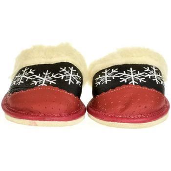 Boty Ženy Papuče John-C Dámske červené kožené papuče RADANA červená