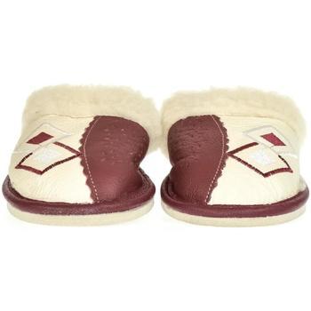 Boty Ženy Papuče John-C Dámske bordové kožené papuče MILICA bordová