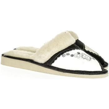 Boty Ženy Papuče John-C Dámske tmavosivé kožené papuče MARÍA tmavosivá