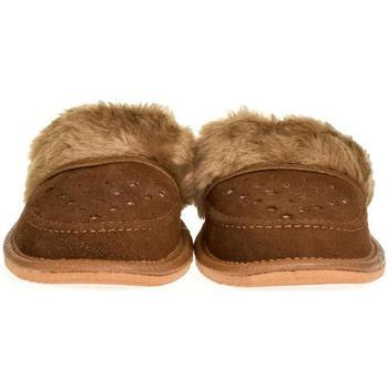 Boty Ženy Papuče John-C Dámske kožené hnedé papuče ĽUBICA hnedá