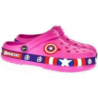 Boty Děti Pantofle Bbg Detské ružové crocsy STAR ružová