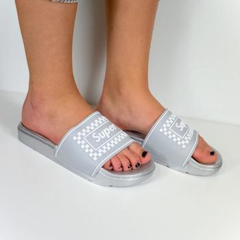 Boty Ženy pantofle Seastar Dámske sivé šľapky SUPER sivá