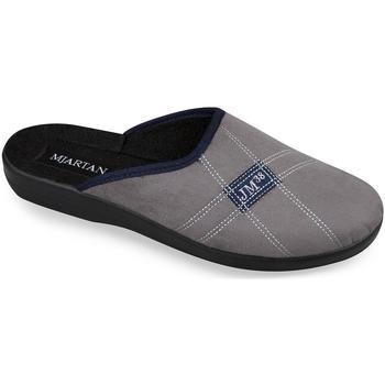 Boty Muži Papuče Mjartan Pánske papuče  FILIP 3 tmavosivá